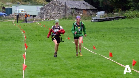 Me on the left, with Nicky on the right at the Ian Hodgson Mountain Relay 2013.