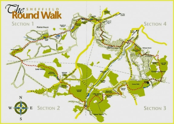 Nice map of the Sheffield Round Walk