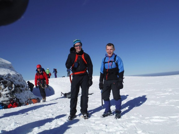 and on the summit with my mate Gav