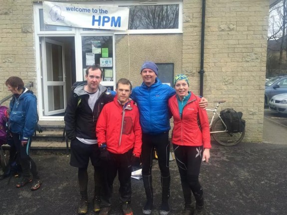 Bizarrely - looking fresher than the night before, post finish in Edale.