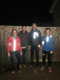 The four of us before the race, Fri eve about 10.30pm.
