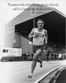 Steve 'Pre' Prefontaine.  Always ran hard from the off, to the frustration of his coach.