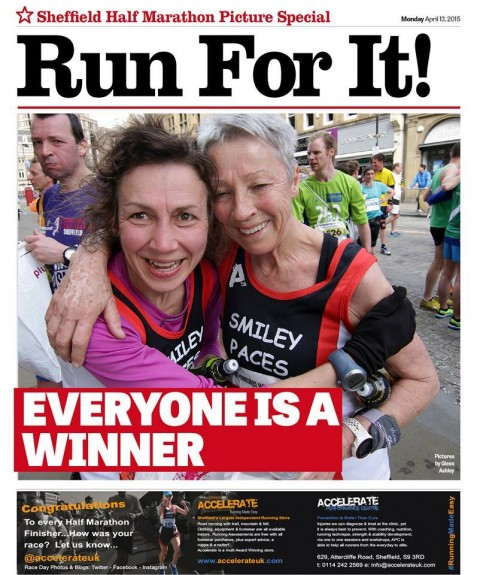 The Sheffield Star's pull out from last year's race - featuring our very own Dot Kesterton on the cover, having scooped yet another prize for Team Accelerate