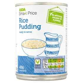 Cheap as chips own brand Rice Pudding at 15p per tin.  Hmmm.