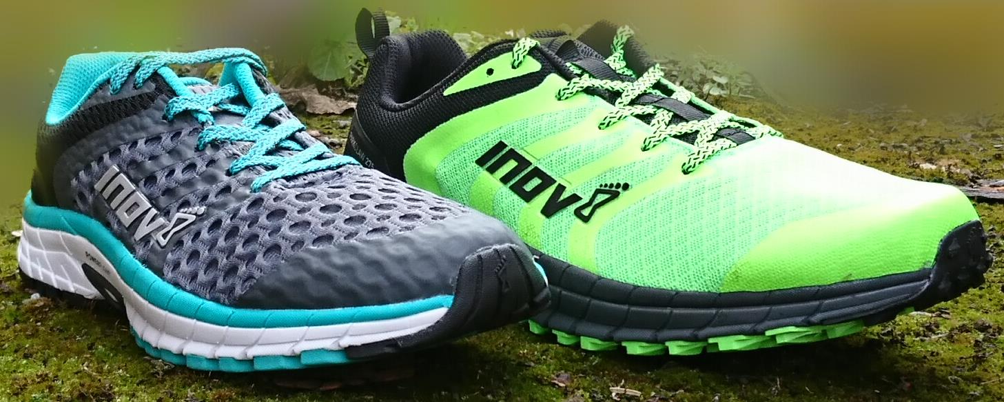 Inov-8 Roadclaw and Parkclaw Side by Side
